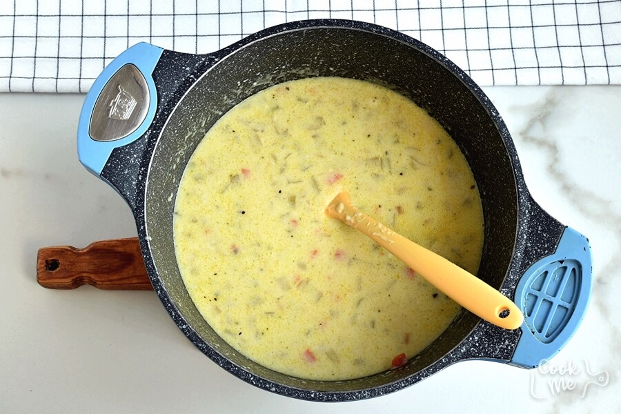 Cheesy Ground Beef Soup recipe - step 4