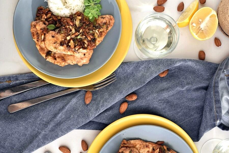 How to serve Chicken Almondine