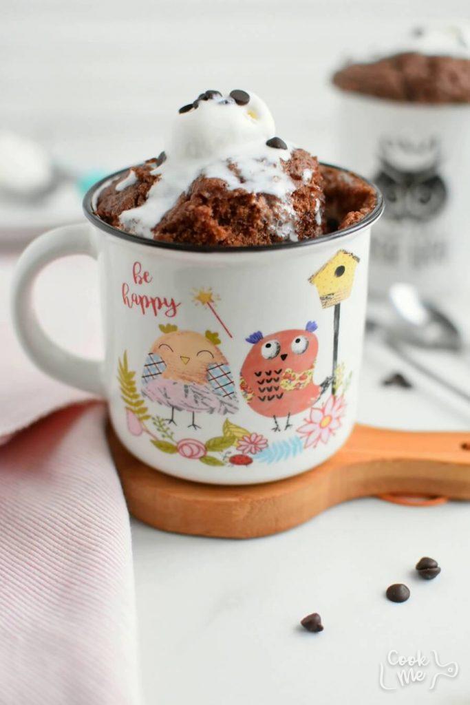 Chocolate Cake In A Mug Recipe Cook Me Recipes