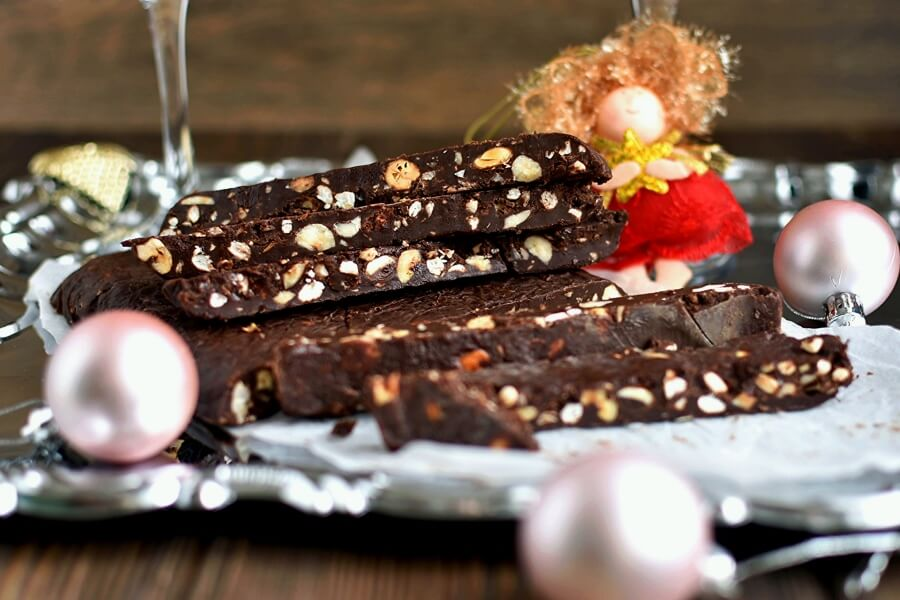 Chocolate Turron for Christmas Recipe-How To Make Chocolate Turron for Christmas-Delicious Chocolate Turron for Christmas