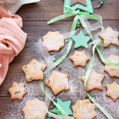Cranberry Shortbread Stars Recipe-Cranberry Shortbread Star Cookies-Homemade Cranberry Cookies