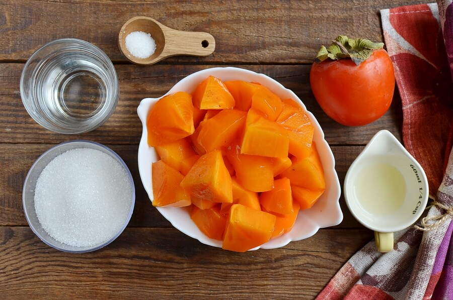 Ingridiens for Vegan Creamy Persimmon Sorbet
