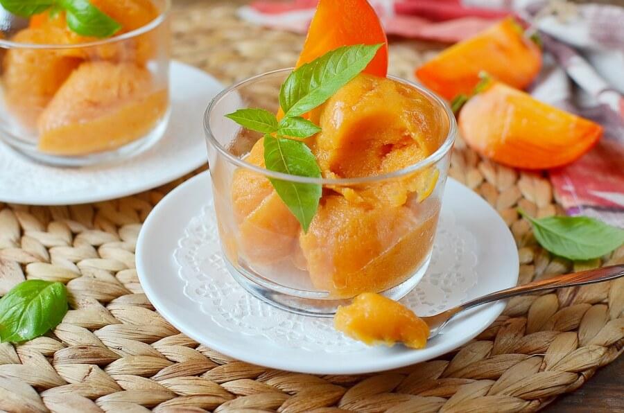 How to serve Vegan Creamy Persimmon Sorbet