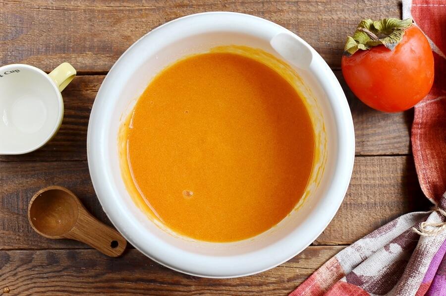 Vegan Creamy Persimmon Sorbet recipe - step 3