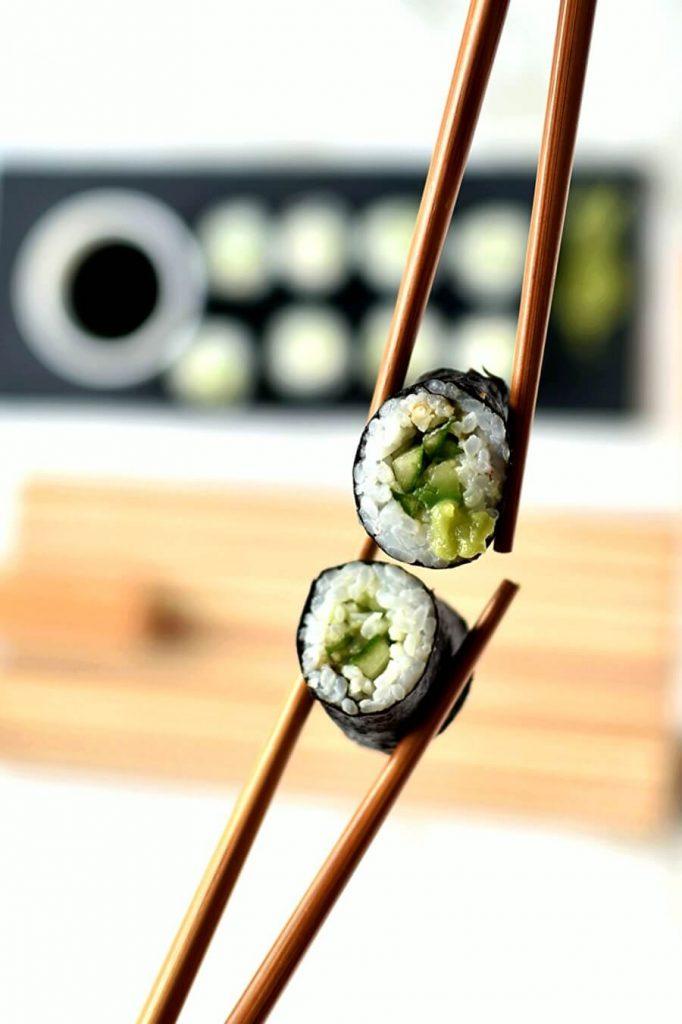 Cucumber and Avocado Sushi Recipe-How To Make Cucumber and Avocado Sushi-Delicious Cucumber and Avocado Sushi