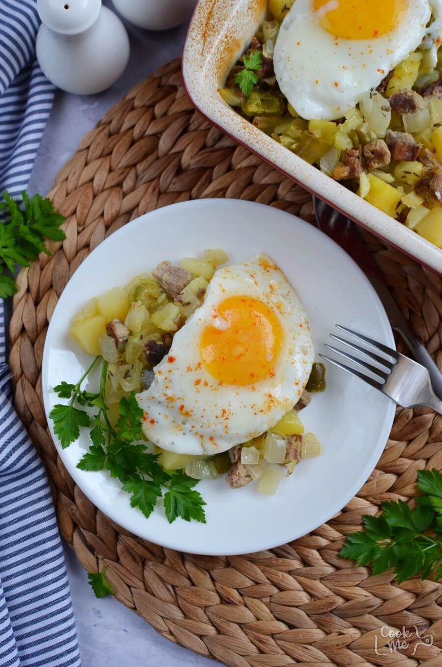 Baked Beef Hash with Potatoes