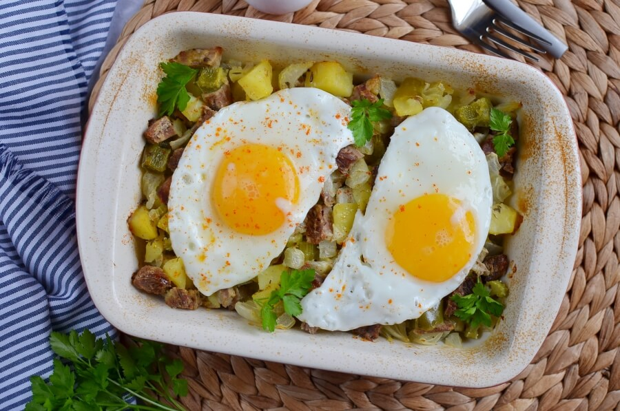 How to serve Baked Beef Hash with Potatoes