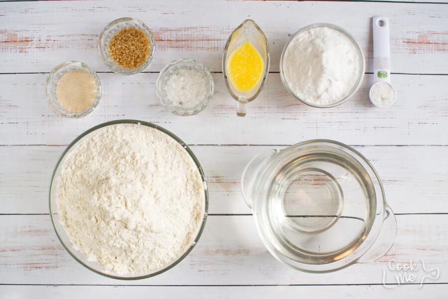 Ingridiens for Easy Homemade Soft Pretzels