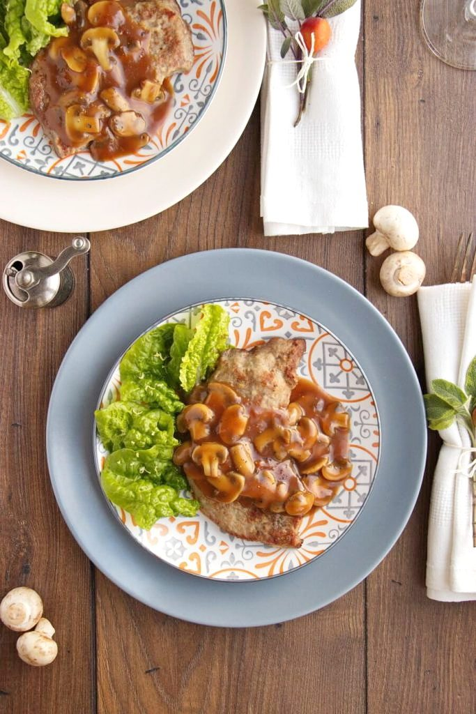 Simple Dinner with Veal Marsala