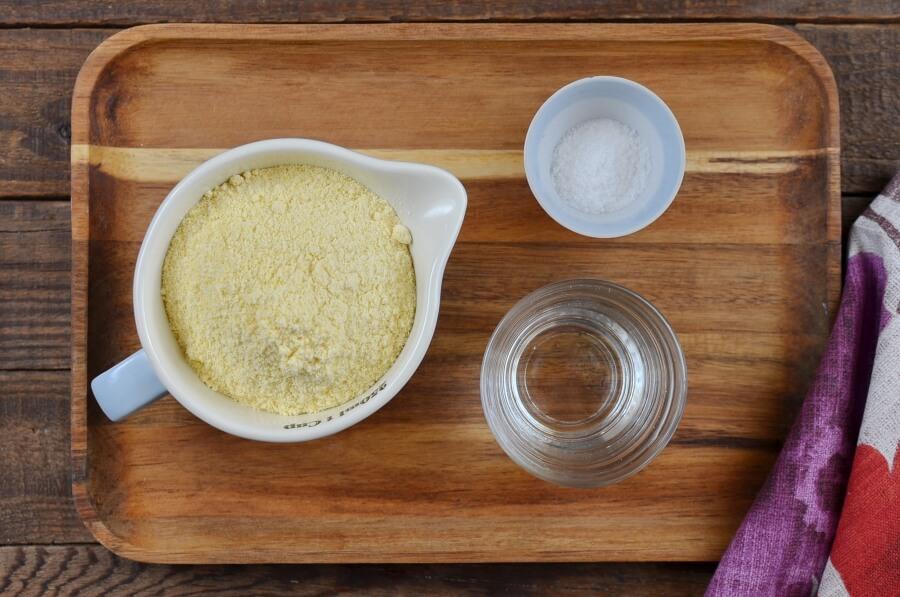 Ingridiens for Homemade Gluten-Free Corn Tortilla