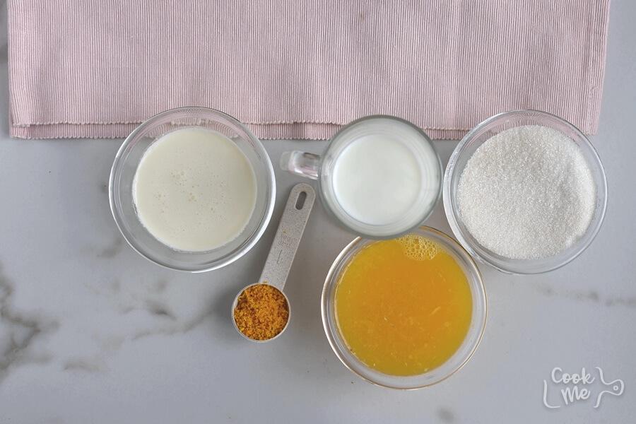 Ingridiens for Homemade Orange Sherbet
