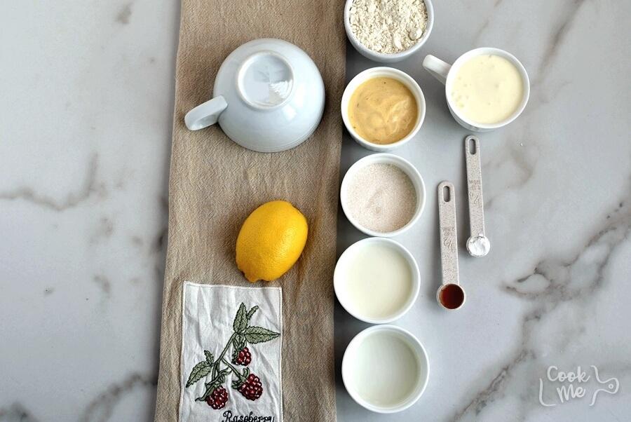Ingridiens for Lemon Mug Cake