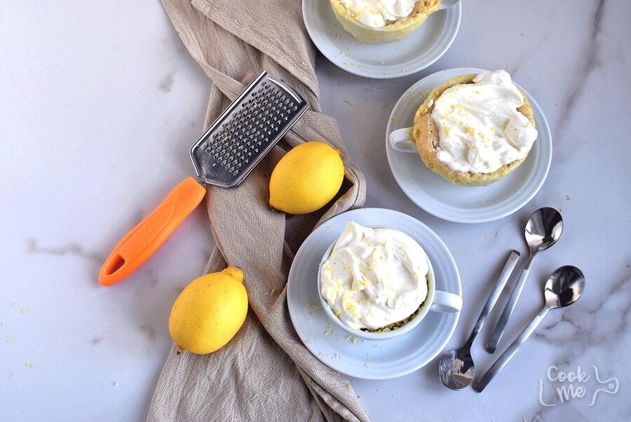 How to serve Lemon Mug Cake