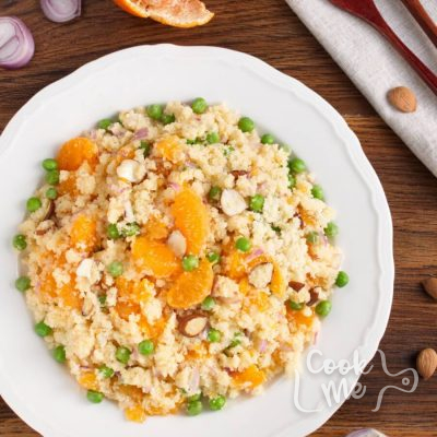 Mandarin Couscous Salad recipe-Moroccan Orange Couscous-How to make Mandarin Couscous Salad