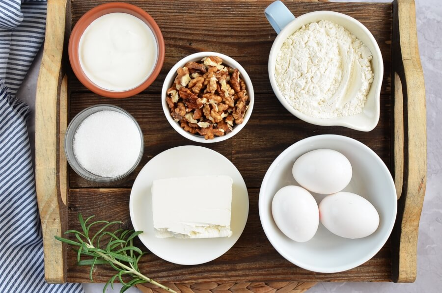 Ingridiens for Meringue Shell Cookies (Rakushki)