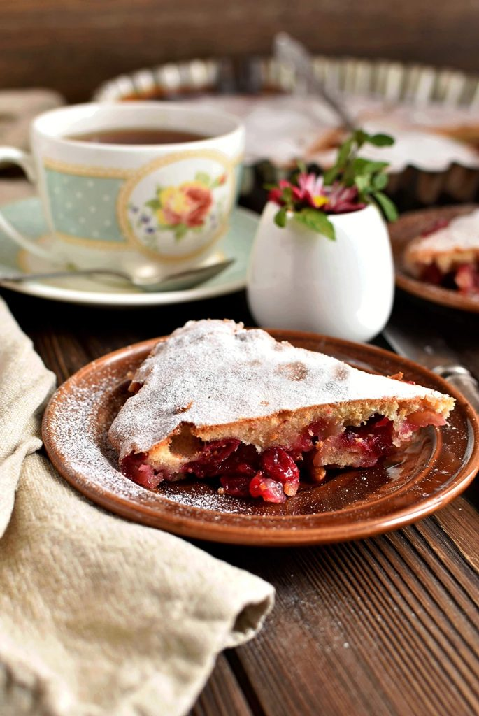 Cranberry and Almond Tart