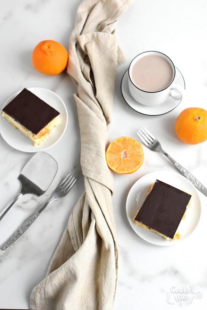 No Bake Pudding Tangerine Dessert