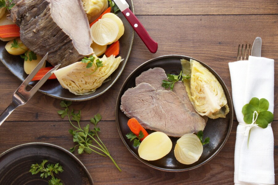 How to serve Oven Baked Corn Beef and Vegetables