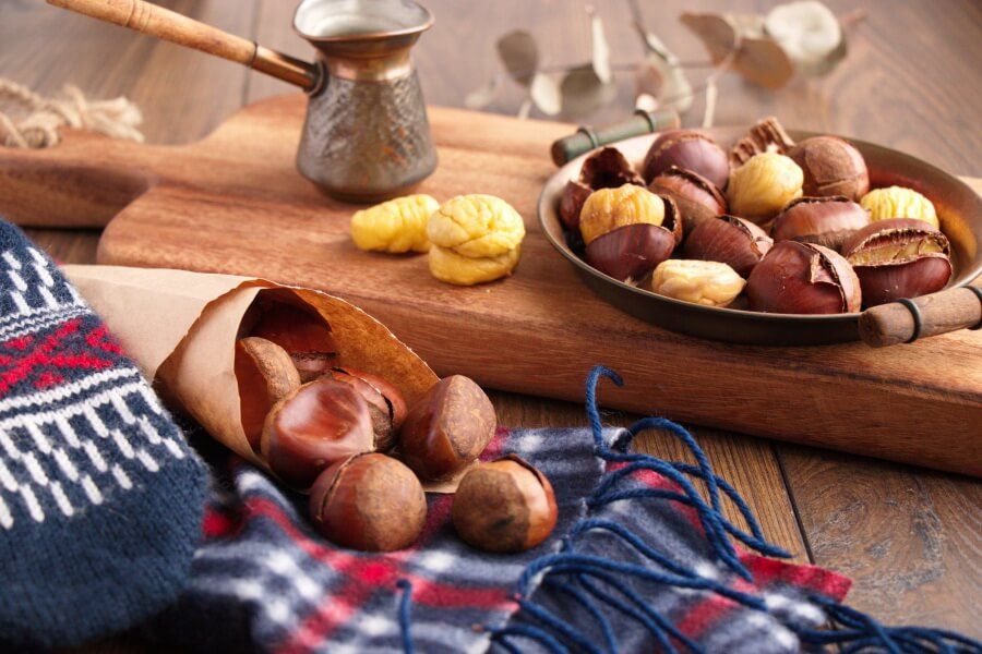 Oven Roasted Chestnuts Recipe-How to Roast Chestnuts in the Oven-Easy Oven Roasted Chestnuts