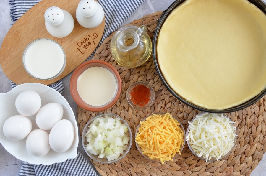 Ingridiens for Passover Cheese Quiche