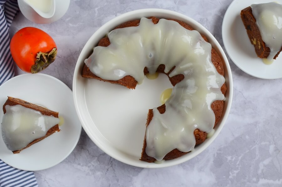 How to serve Persimmon Rum Bundt Cake