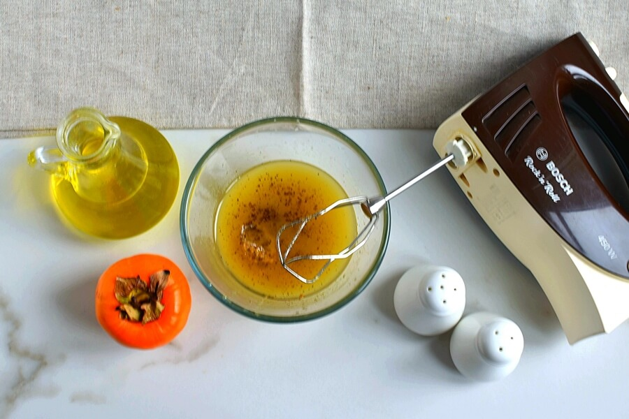Persimmon Salad with Moroccan Sweet Vinegar recipe - step 2