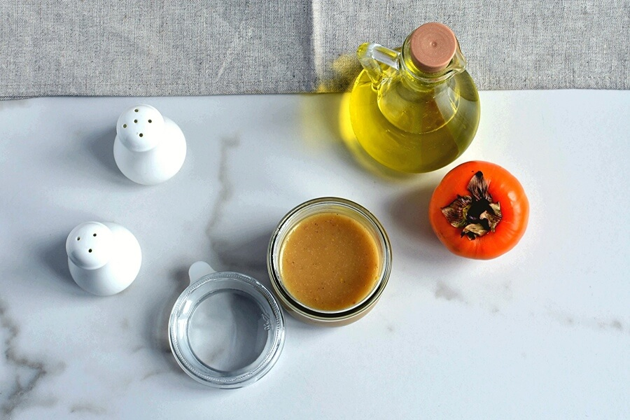 Persimmon Salad with Moroccan Sweet Vinegar recipe - step 3
