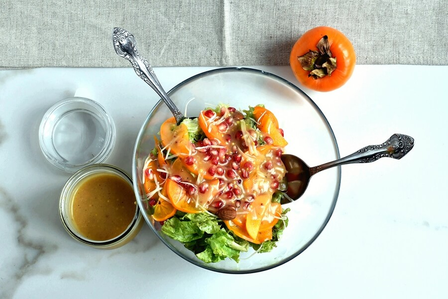 Persimmon Salad with Moroccan Sweet Vinegar recipe - step 4
