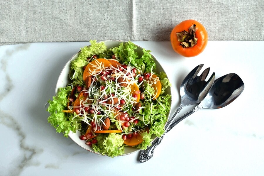 How to serve Persimmon Salad with Moroccan Sweet Vinegar