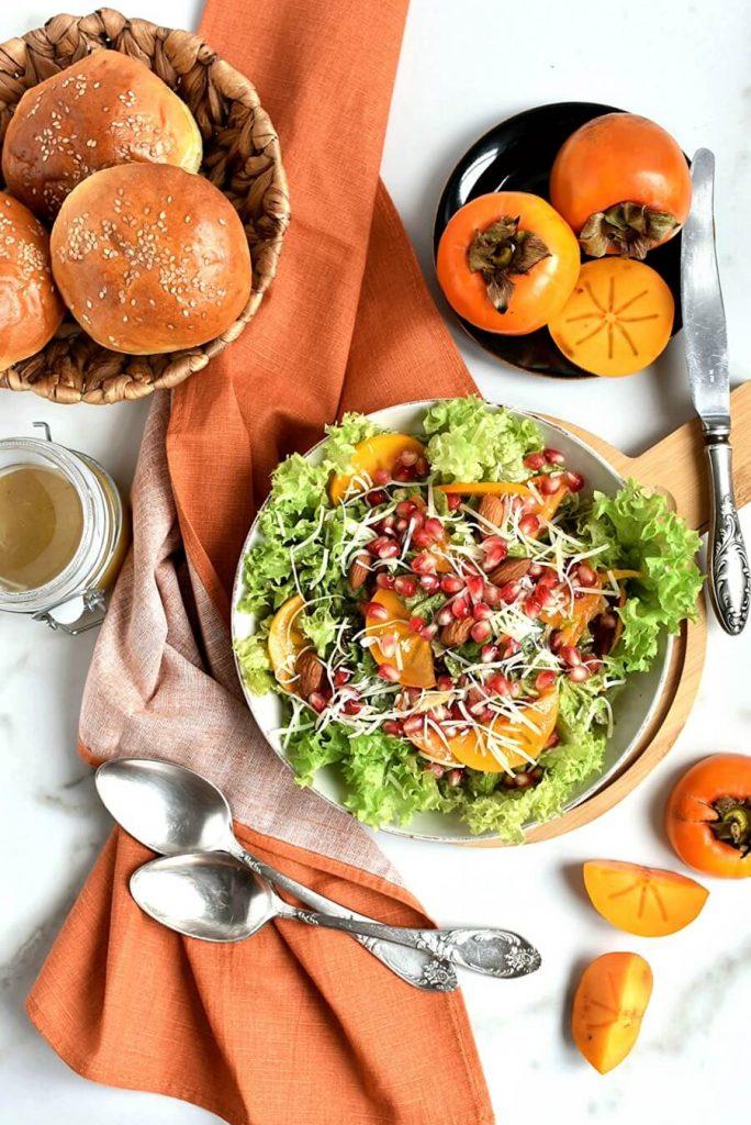 Persimmon Salad with Moroccan Sweet Vinegar