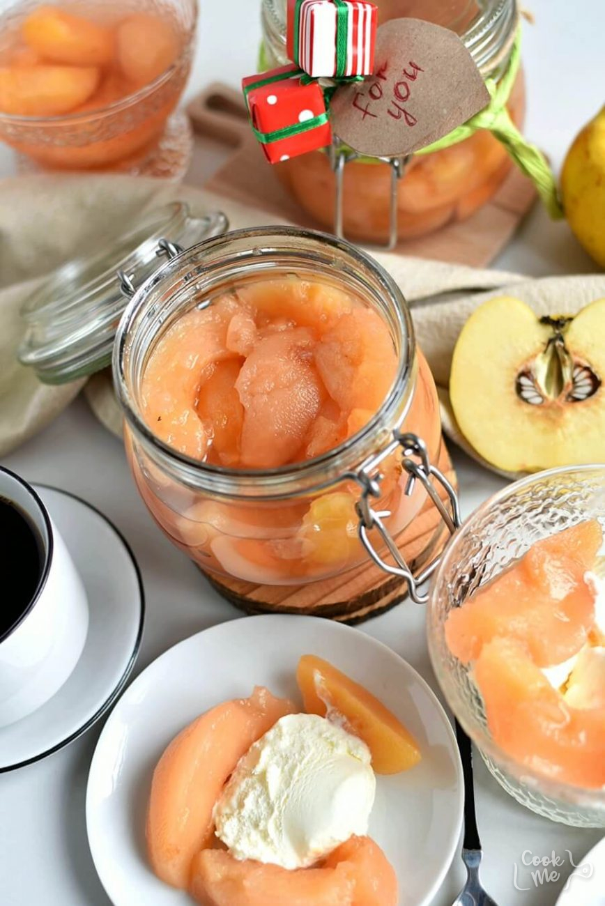 Quince Preserves in Syrup