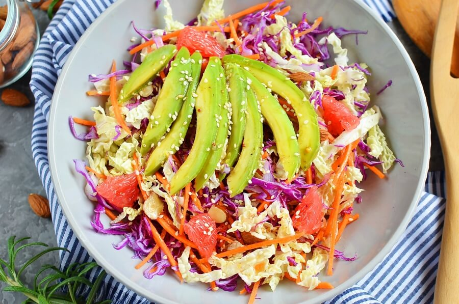 Rainbow Red Cabbage Salad Recipe-How To Make Rainbow Red Cabbage Salad-Homemade Rainbow Red Cabbage Salad