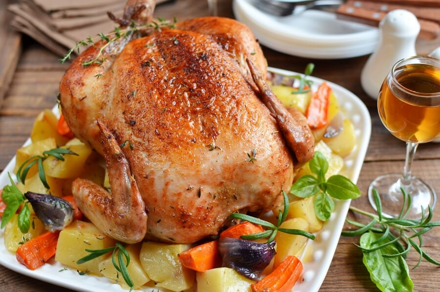 Roast Chicken and Vegetables Recipe-How To Make Roast Chicken and Vegetables-Delicious Roast Chicken and Vegetables