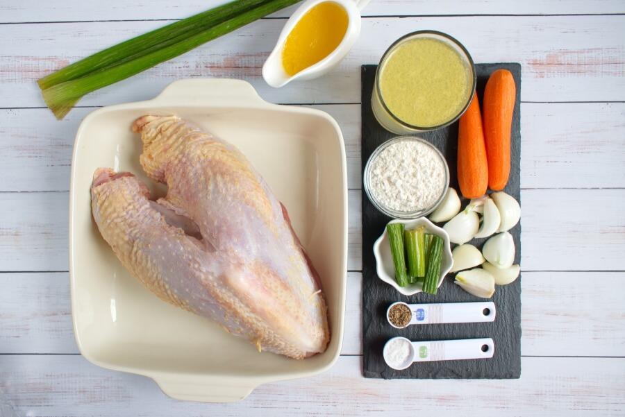 Ingridiens for Roast Turkey Breast and Gravy