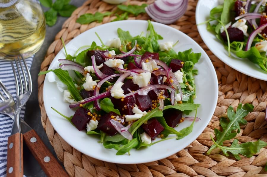 How to serve Roasted Beets and Feta Salad