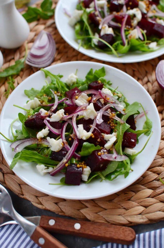 Roasted Beets and Feta Salad