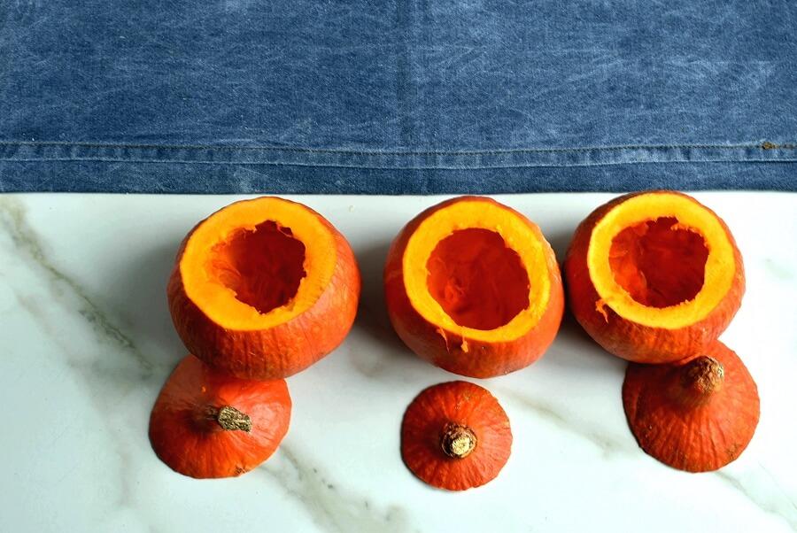 Sausage & Rice Stuffed Pumpkins recipe - step 2