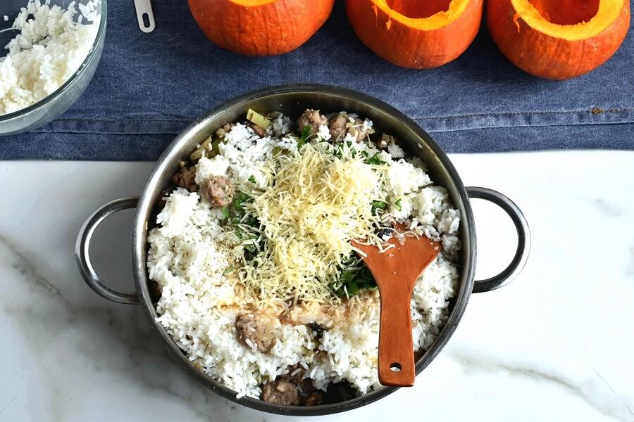 Sausage & Rice Stuffed Pumpkins recipe - step 4