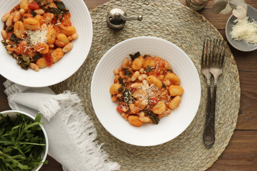 How to serve Skillet Gnocchi with Chard & White Beans