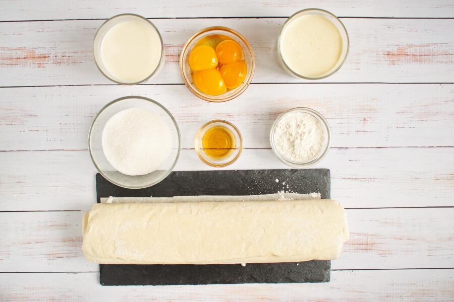 Ingridiens for Sporcamuss Italian Cream Filled Pastries