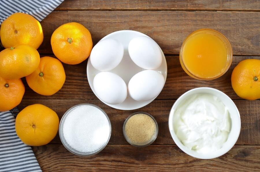 Ingridiens for Tangerine Cream Parfait