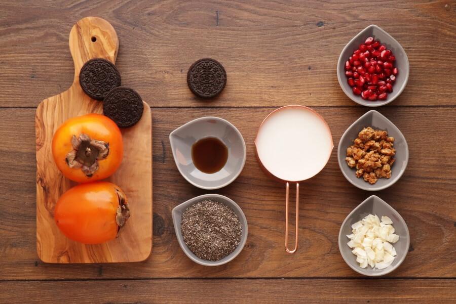 Ingridiens for Vegan Persimmon Chia Pudding