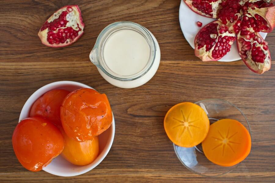Ingridiens for Vegan Persimmon Ice Cream