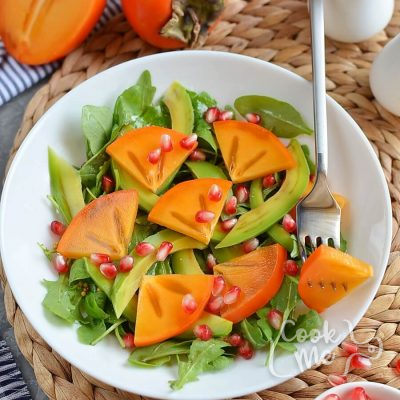 Winter Persimmon and Avocado Salad Recipe -How To Make Winter Persimmon and Avocado Salad -Delicious Winter Persimmon and Avocado Salad