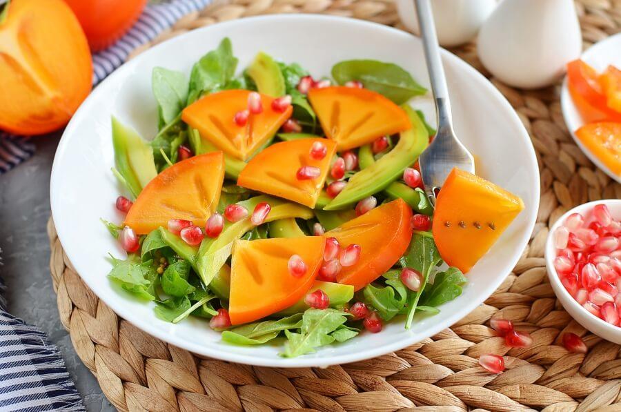Winter Persimmon and Avocado Salad recipe - step 4