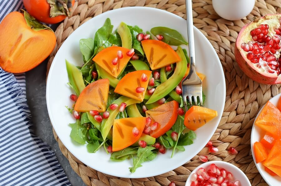 How to serve Winter Persimmon and Avocado Salad