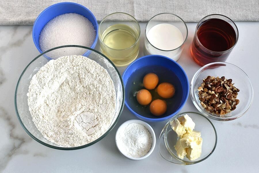 Ingridiens for Bacardi Rum Bundt Cake