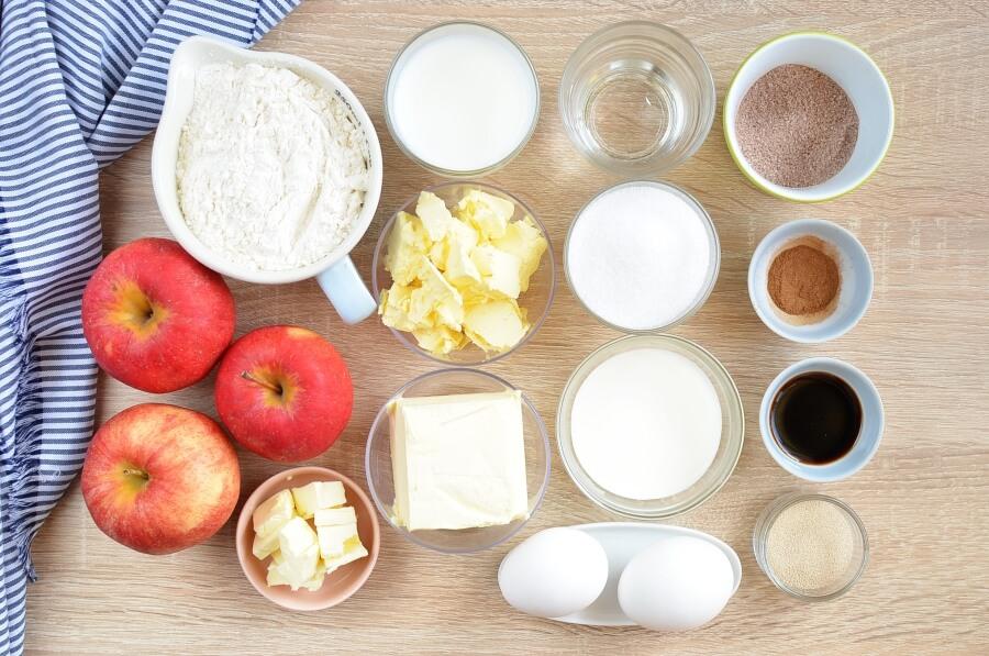 Ingridiens for Pull-Apart Apple Bread Recipe