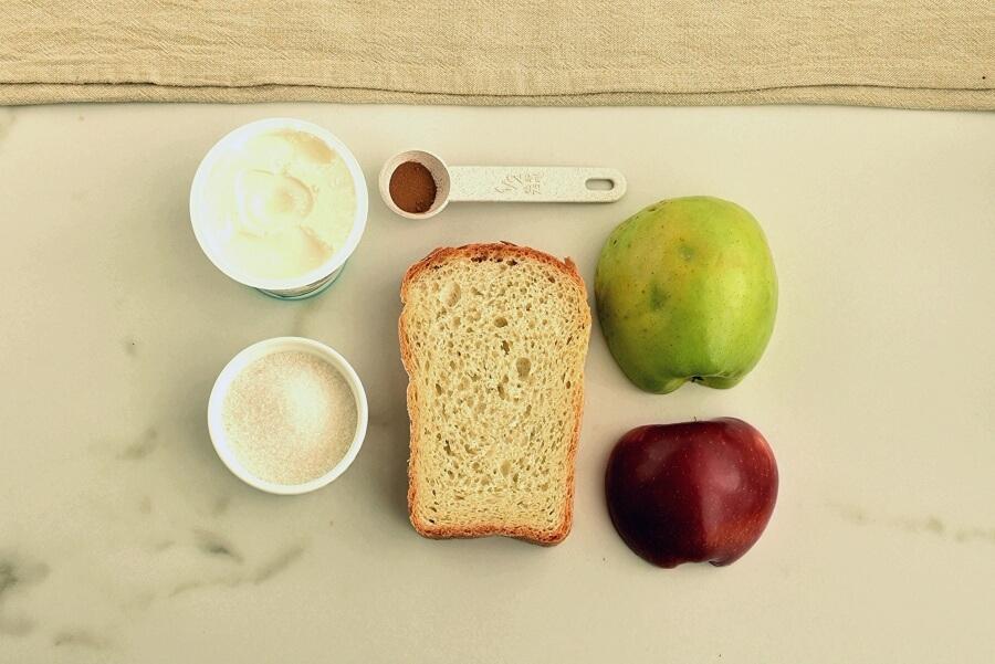 Ingridiens for Apple Pie Toast