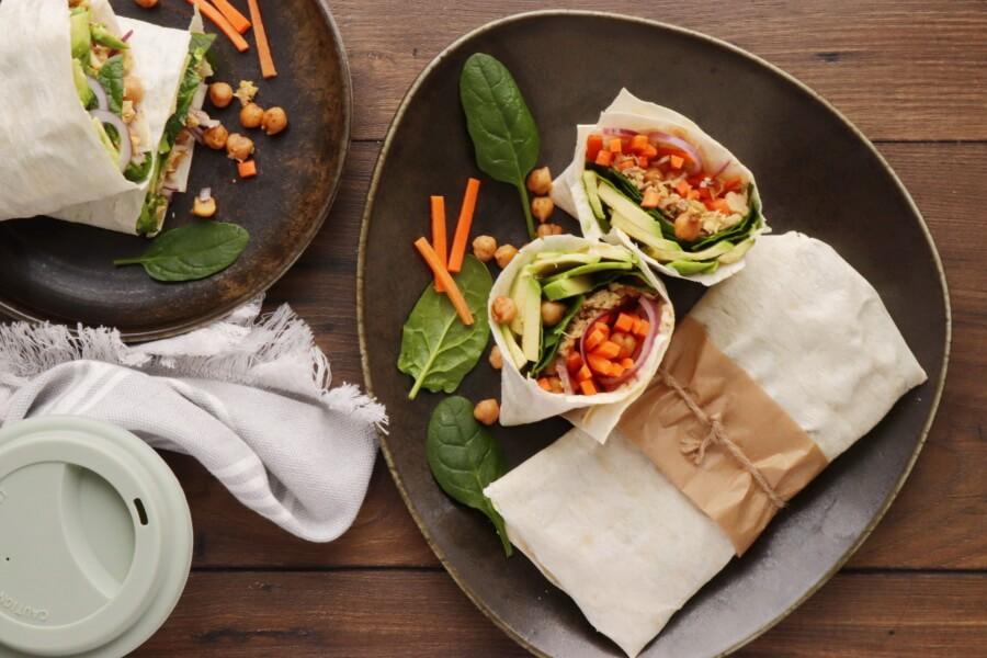 How to serve Avocado Tuna Wraps